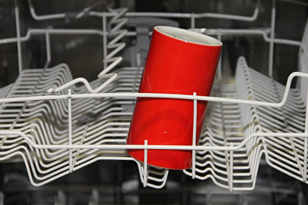 cup in dishwasher