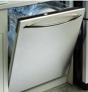 dishwasher with a full load of dishes
